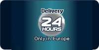 Delivery 24 hours only in Europe